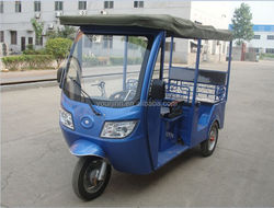chinese gasoline powered passenger tricycle with cabin