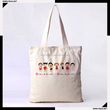 100% QC Eco-friendly 140gsm custom cotton bag
