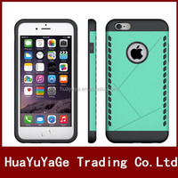 Free Shipping Slim Armor TPU&PC Combo Shield Phone cases cover for Apple iphone 6 6S