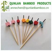 Eco friendly many types fruit bamboo cocktail sticks