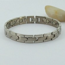 far infrared powder and pure titanium bracelet jewelry set