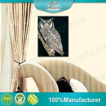 Decorative OWL Personality Frameless Polyester Fabric 3D Painting For Indoor Decoration