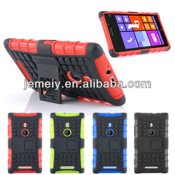 For nokia lumia 925 cover 3 in 1 shock proof case with holder