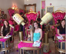 Beauty nail care equipments , Princess , queen french style luxury pedicure chair