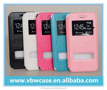 PC PU leather cell phone case with window