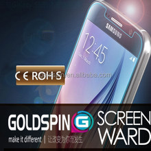 GOLDSPIN 2015 Treding Hot New Product For Galaxy S6 Tempered Glass Screen Guard With Design