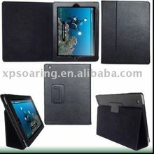 Brand new black stand flip PU cover case for ipad 2