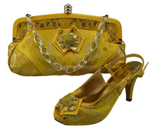 summer sandal and match bag sets royal yellow SY150407-5