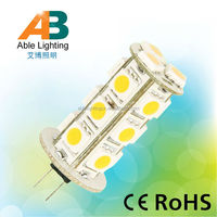 warm white 3000k 18 smd 5050leds dimmable dc 12v bulb led g4 3w