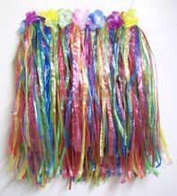 Hot sale high quality hawaii hula straw dance skirt for party decoration BWG-2469