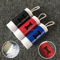 LED bone shape pet dog waste bag dispenser