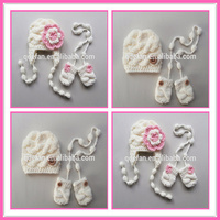 flower kids winter hat and gloves cute winter hat and gloves for girls