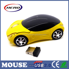 Newest stylish racing wireless car mouse for promotion car shape mouse