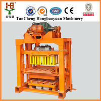 2015 Most famous QT 4-40 manual brick making machine / cement brick making machine