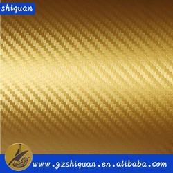 2015 Removable glue 3D carbon fiber car cover vinyl film