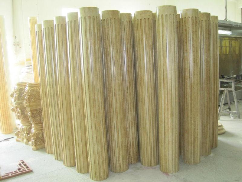 Pu foam polyurethane plastic pillars for decoration for Polyurethane columns