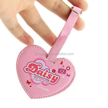 New Designed Heart Shaped PU Leather Luggage Tag Wedding Favor