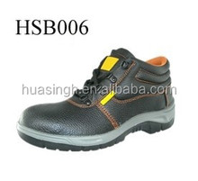 Ankle high dual color sole CE certificate good price steel shank industry boots for safety