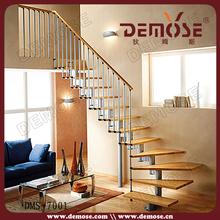 residenciales de acero redondo escaleras para el pequeño espacio