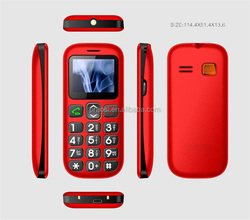 quad bands old man use loud voice mobile big keypad old aged people sos panic button cell phone