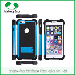 Wholesale Price TPU+PC+Silicon protective shockproof 3 in 1 dual layer case with kickstand for apple iphone 6 case cover