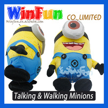 Sound Recordable Minion Stuffed Toy Can Walk As Well