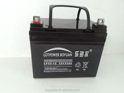 solar energy storage battery ups battery sealed lead acid battery 12V 33ah