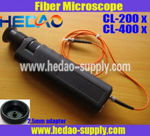 CL-400X optic fiber inspection microscope with integrated laser safety filters