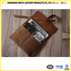 High Quality PU/Genuine Leather Envelope Latop Sleeve Case for MacBook and Phone