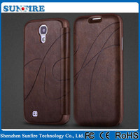 leather back cover for samsung galaxy s4, for s4 leather back cover, back cover leather case for galaxy s4 mini