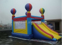 PVC material and castle type Balloon inflatable bouncer slide for sale