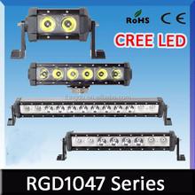 2015 High lumens light bar 12v single row double row 24v 36w automobile led lighting bar for car