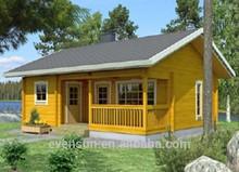 De ocio de vacaciones pequeña cabaña de troncos& playa casa de madera prefabricada