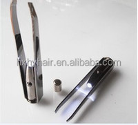 eyebrow tweezers with LED lamp