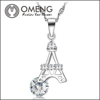 Sterling Silver Eiffel Tower Necklace Wholesale Silver Tiny Jewelry