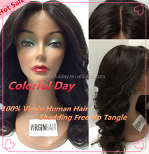 Low Price Middle Parting Body wave Lace Wigs Human Hair Unprocessed Swiss Lace