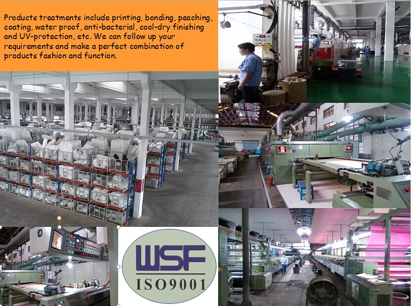 Lesen textile 290T 100 polyester PA PU coated fabric