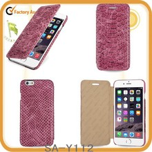 crocodile grain serpentine genuine leather phone case for iPhone 6,iphone 6 plus
