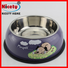 wholesale colorful personalized steel pet water bowl/dog feeding bowl