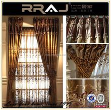 Villa luxury Royal style Satin home curtain