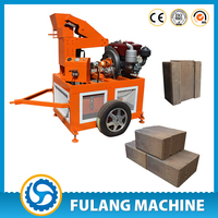 FL1-20 manual hand operated hydraform interlocking interlock compressed earth ecological brick block making machine price