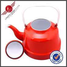 Cheap Wholesale Red Enamel Teapot Antique Enamel Water Pot/Enamel Kettle