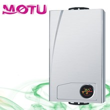 white coated panel gas water heater with LCD/LED
