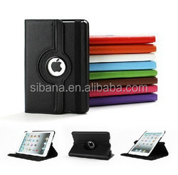 Wholesale 360 degree rotate leather protector case cover for ipad mini 2,factory price case for ipad mini 2