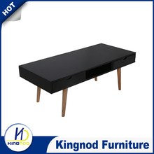 2015 Shanghai furniture fair MDF and solid wood with drawer coffee table