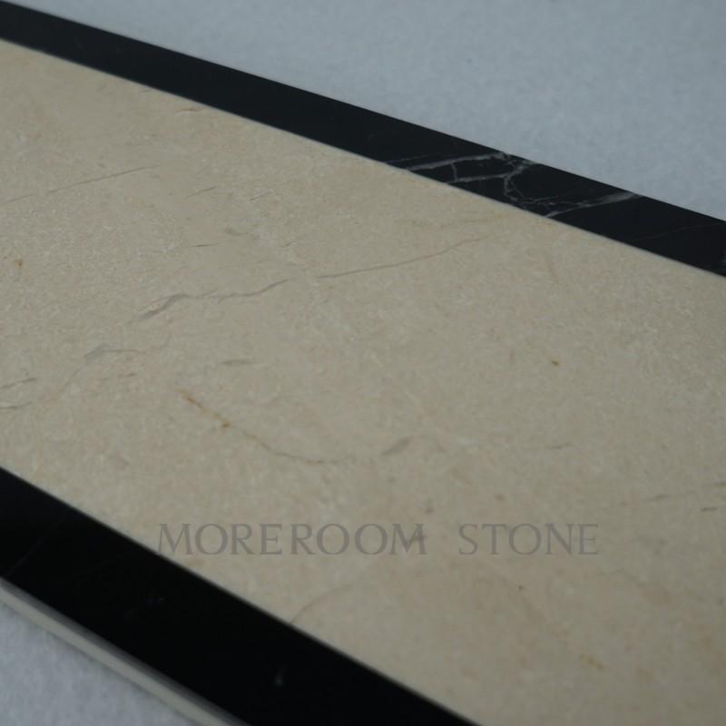 Polished Marble Border Tiles Spanish Beige Marble Cream Marfil