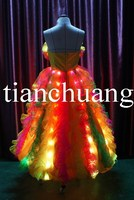 LED Stage Clothing for Women / Glowing Carnival Costumes / Festival Promotional Dance Dress