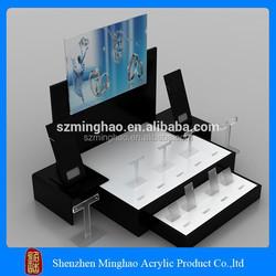 elegant clear custom acrylic jewelry display case