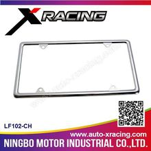 XRACING-2015 (LF102-CH) fashion chrome License Frame/license plate cover car signs license plate