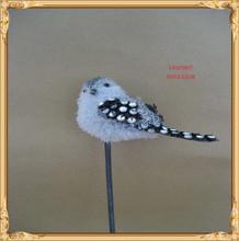 new plush bird on stick christmas decoration love birds
